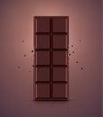 Chocolate bar dark eps Royalty Free Stock Photography