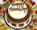 Chocolate Birthday Cake Royalty Free Stock Photo
