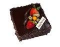 Chocolate birthday cake Royalty Free Stock Photography