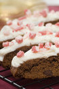 Chocolate Biscotti with peppermint sprinkles Royalty Free Stock Photo