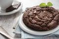 Chocolate brownie cookie Royalty Free Stock Photo