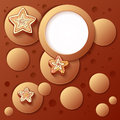 Chocolate bubbles abstract artistic background Royalty Free Stock Photography