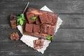 chocolate cake brownie Royalty Free Stock Photo