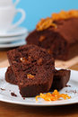 Chocolate cake with candied orange peel