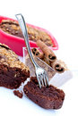 Chocolate cake and cinnamon Stock Photos