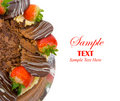 Chocolate Cake with Copy Space for Text Royalty Free Stock Photos