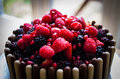 Chocolate cake an indulgent with berries Stock Photography