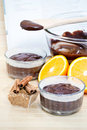Chocolate Cake Ingredients Royalty Free Stock Photos