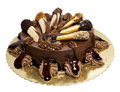Chocolate cake with lady-fingers Royalty Free Stock Photo