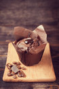 Chocolate cake muffin Stock Images
