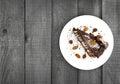 Chocolate Cake Slice With Nut ...