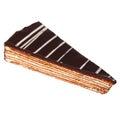 Chocolate cake slice spartacus isolated on white Stock Image