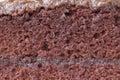 Chocolate cake texture close up Stock Photos