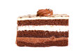 Chocolate cake and vanilla layered Royalty Free Stock Photography