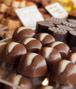 Chocolate candies assorted in the shop Royalty Free Stock Photography