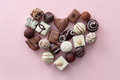 Chocolate candies heart Royalty Free Stock Photo