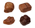 Chocolate candies made of dark and milk file contains clipping path Stock Image