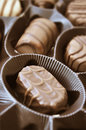 Chocolate candies milk in box Royalty Free Stock Image