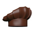 Chocolate chef hat isolated on white background Royalty Free Stock Photography