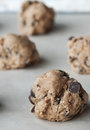 Chocolate Chip Cookie Dough Royalty Free Stock Images
