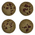 Chocolate chip cookie isolated with a clipping path Royalty Free Stock Photos