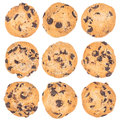 Chocolate chip cookie isolated on white background Royalty Free Stock Photo