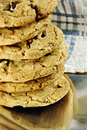 Chocolate Chip Cookie Stack Royalty Free Stock Photography