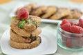 Chocolate chip cookies Fotografía de archivo