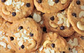 Chocolate chip cookies with almond nut