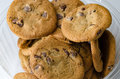 Chocolate chip cookies in bowl Royalty Free Stock Photo