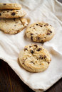 Chocolate chip cookies freshly baked Stock Photos
