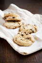 Chocolate chip cookies freshly baked Royalty Free Stock Photos