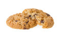 Chocolate chip cookies isolated on white background Royalty Free Stock Image