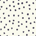 Chocolate chip polka dots, vector seamless pattern Royalty Free Stock Photo