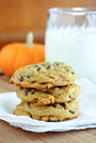 Chocolate Chip Pumpkin Cookies Stock Photography