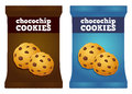 Chocolate Chips Cookie Snack Packaging Vector