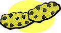 Chocolate chips cookies vector illustration Royalty Free Stock Images