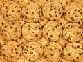 Chocolate chips cookies wallpaper Royalty Free Stock Image