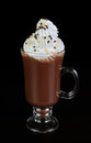 Chocolate cocktail with whipped cream glass of Stock Image