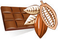 Chocolate with cocoa bean Royalty Free Stock Image