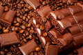 Chocolate-Coffee background Royalty Free Stock Image