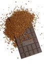 Chocolate and coffee granules Royalty Free Stock Photos