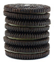 Chocolate cookie stack Royalty Free Stock Images