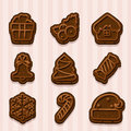 Chocolate cookies for Christmas and New Year
