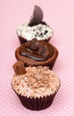Chocolate Cookies and cream cup cake Royalty Free Stock Photo
