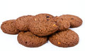 Chocolate cookies on white background Royalty Free Stock Image