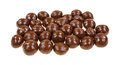 Chocolate Covered Carmel Balls on White Royalty Free Stock Image