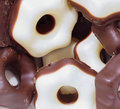 Chocolate covered christmas candies milk and white Stock Photography