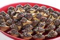 Chocolate covered fortune cookies Stock Images