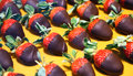 Chocolate-covered strawberries Royalty Free Stock Photo